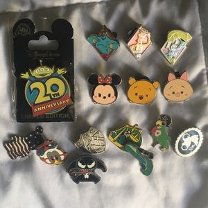 Cast member only, 60th anniversary, disney pin lot